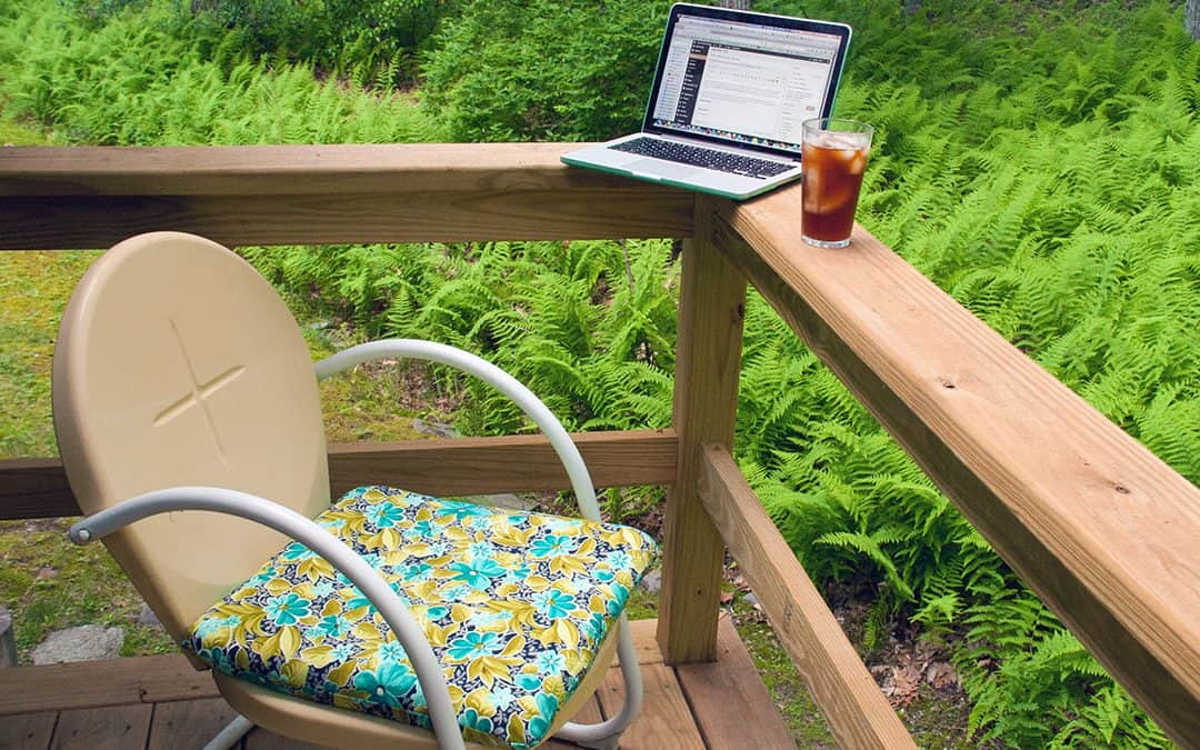 Your outdoor office peaches and arugula vs garlic mustard Better homes and gardens latest episode